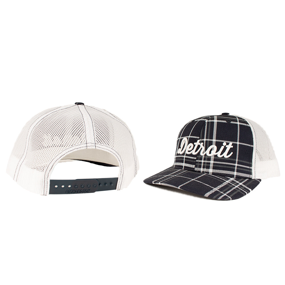 Hat - Detroit Thirsty Navy Plaid Richardson Snapback