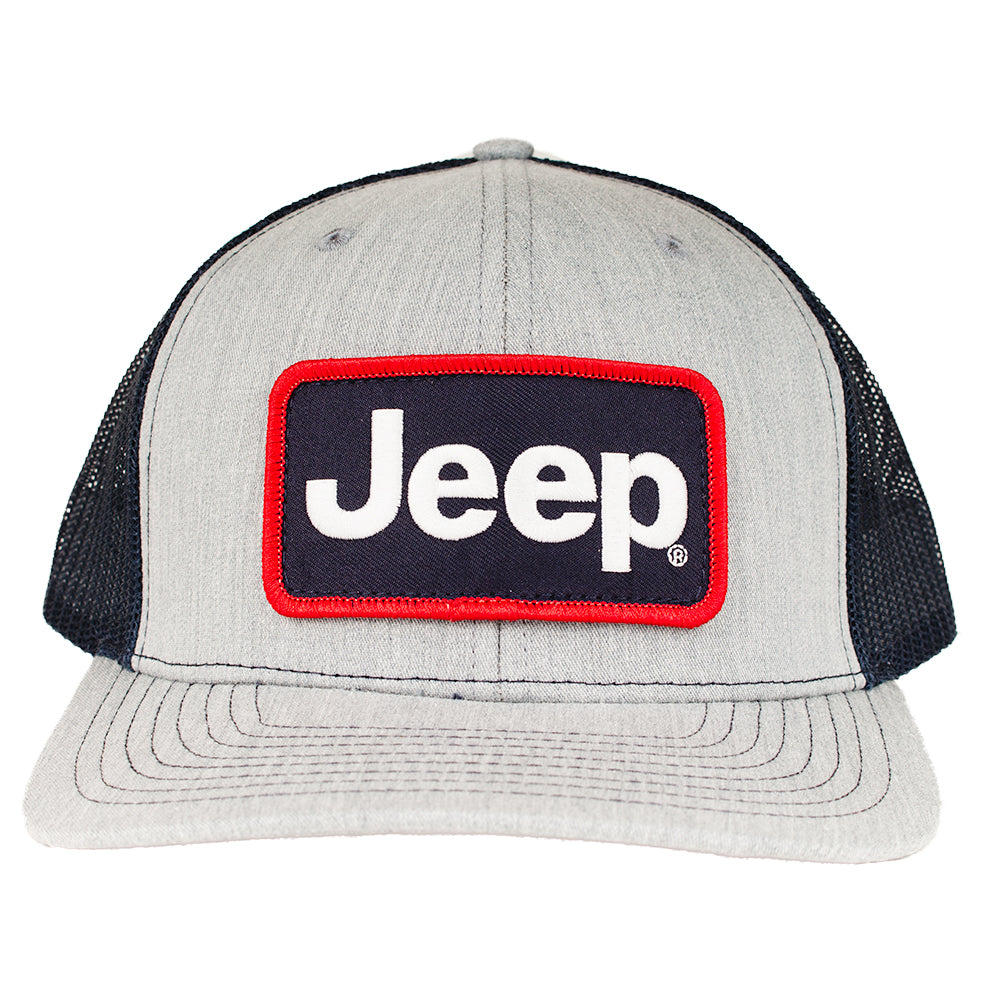 Hat - Jeep Richardson Patch Hat - Heather Grey/Navy