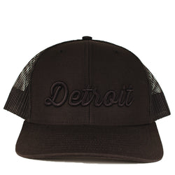 Hat - Detroit Thirsty Blackout Richardson Snapback