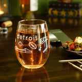 Wine Glass - Detroit Icons