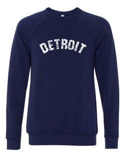 Detroit Bend Triblend Fleece Crew Sweatshirt (Navy) | Detroit Shirt Co.