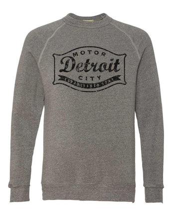 Fleece - Detroit Buckle Blackout Triblend Crew