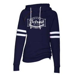 Fleece - Detroit Buckle Varsity Double Hood Pullover - Navy