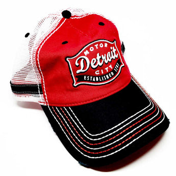 Hat - Red and Black Buckle Trucker