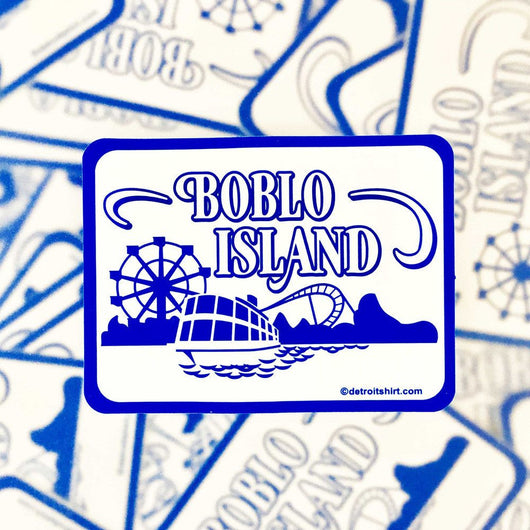Sticker - Boblo Island Boat-Sticker-Detroit Shirt Company