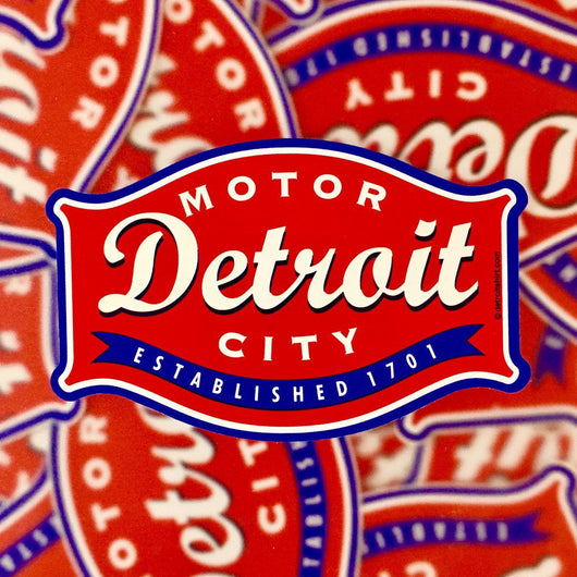 Sticker - Detroit Buckle-Sticker-Detroit Shirt Company
