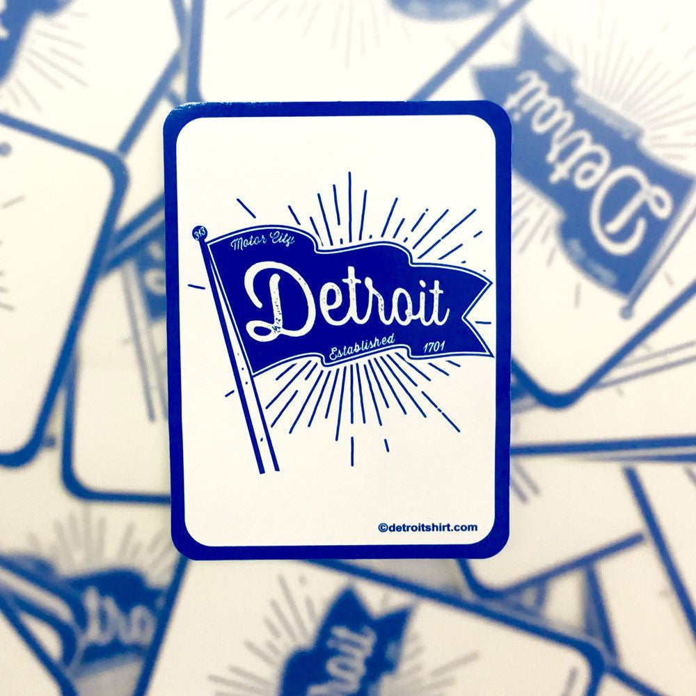 Sticker - Detroit Pennant-Sticker-Detroit Shirt Company