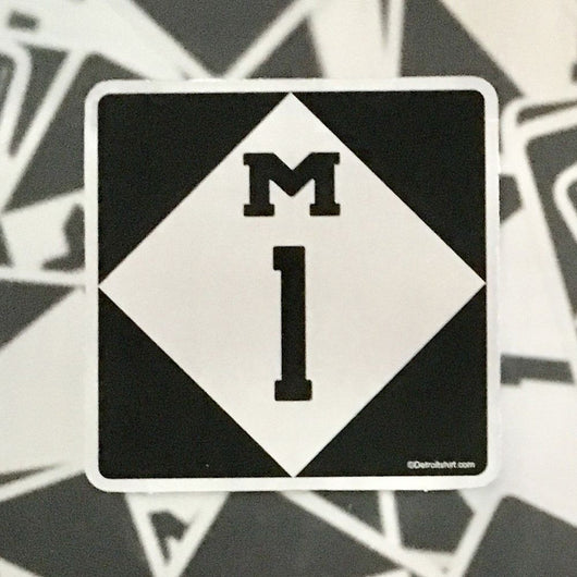 Sticker - M1 Woodward Ave.-Sticker-Detroit Shirt Company