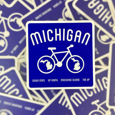 Sticker - Michigan Bike-Sticker-Detroit Shirt Company