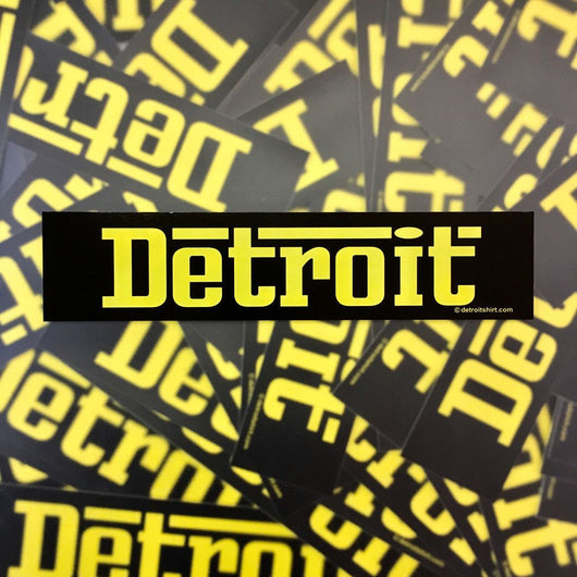 Sticker - Detroit Nero-Sticker-Detroit Shirt Company