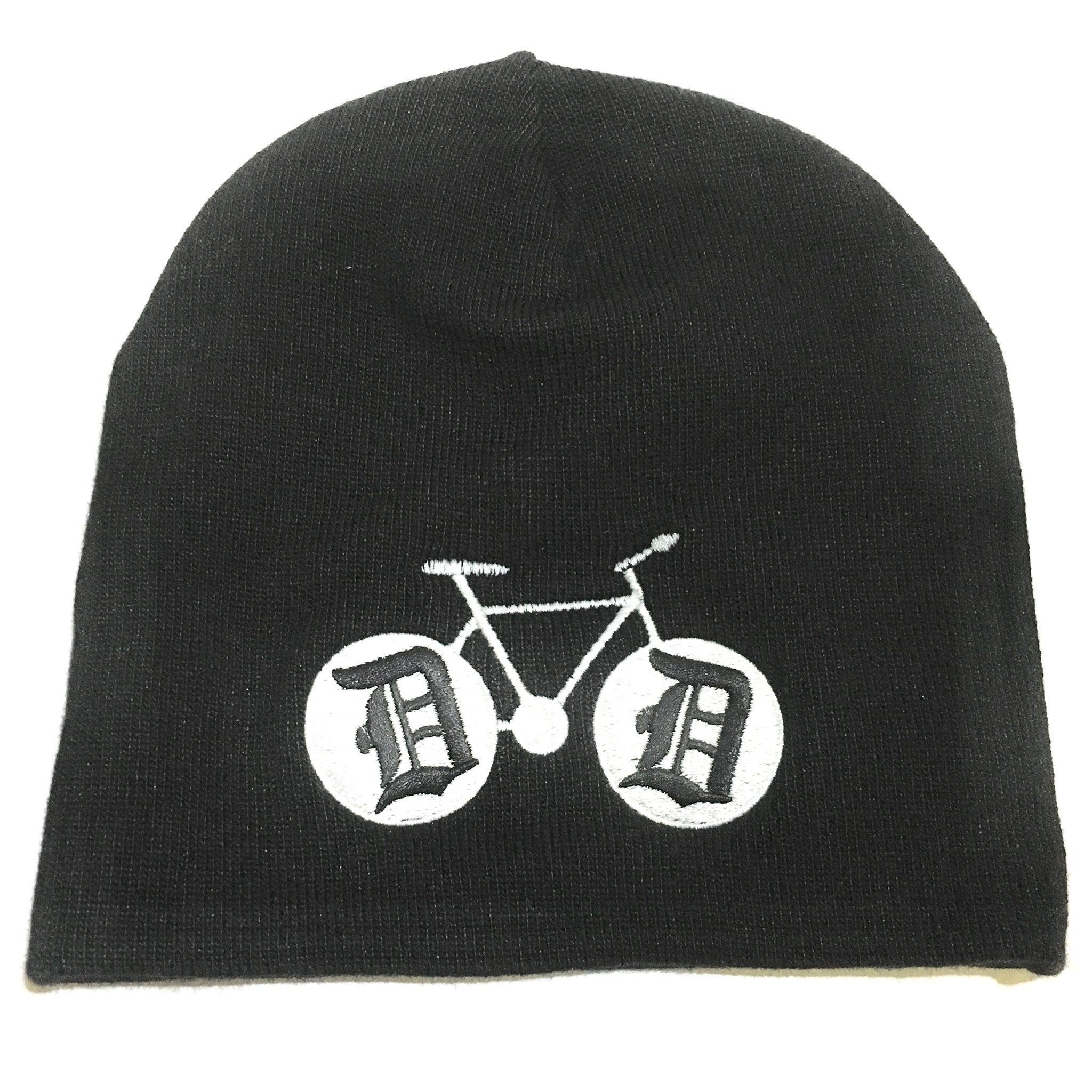 Hat - Detroit Bike Beanie - Black-Hats-Detroit Shirt Company