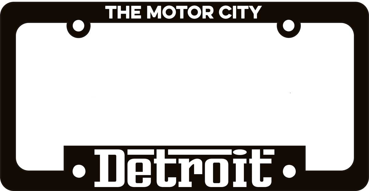 License Plate Frame - Grigio-Coasters-Detroit Shirt Company