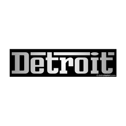 Sticker - Detroit Grigio Chrome