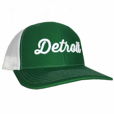 Hat - Detroit Thirsty Kelly White Richardson Snapback-Hats-Detroit Shirt Company