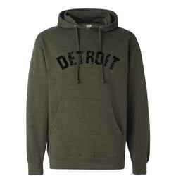 Detroit Bend Hoodie Sweatshirt Army Green