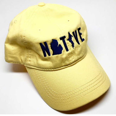 Hat - Michigan NATIVE Unstructured Maize-Hats-Detroit Shirt Company