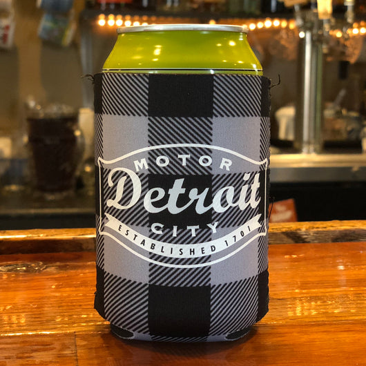 Koozie - Detroit Buckle Plaid