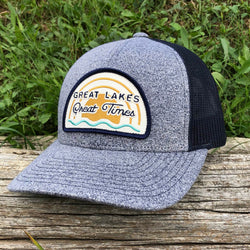 Hat - Michigan Great Lakes Great Times Richardson Snapback - H. Navy/Navy