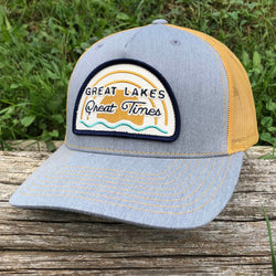 Hat - Michigan Great Lakes Great Times Richardson Snapback - H. Grey/Amber Gold