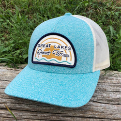 Hat - Michigan Great Lakes Great Times Richardson Snapback - H. Green Teal/Birch