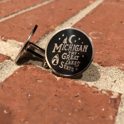 Cufflinks - Michigan Vintage Font