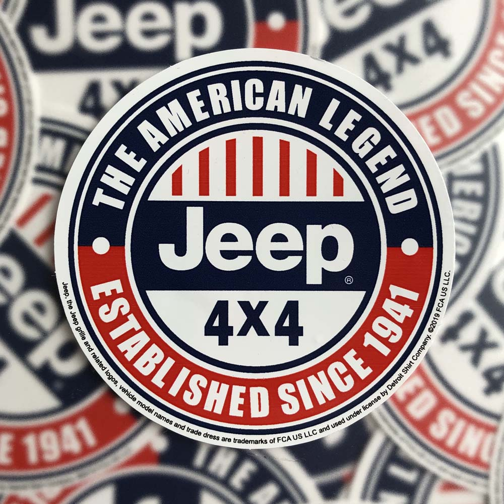 Sticker - Jeep® The American Legend
