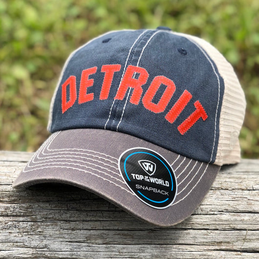 Hat - Detroit Bend Twill (Navy / Bone / Orange)