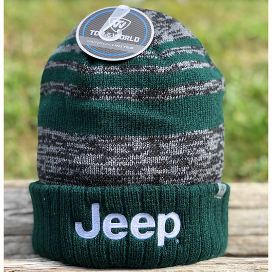 Hat - Jeep Knit Hat Echo - Forest/Black/Grey