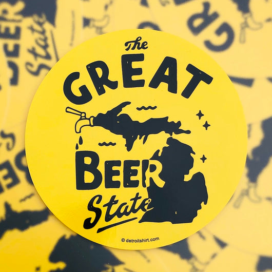 Sticker - Michigan The Great Beer State