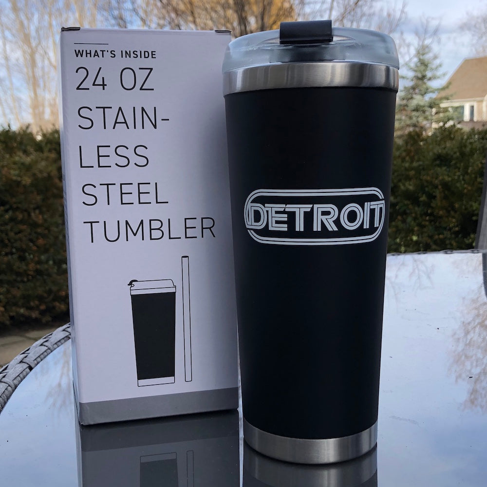 Travel Mug - Detroit Wrap - Black
