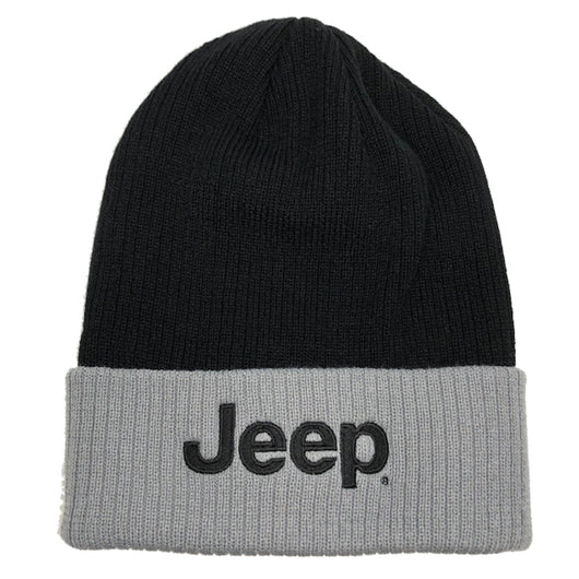 Hat - Jeep Flip Knit - Grey/Black