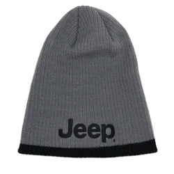 Hat - Jeep Knit Beanie- Grey/Black