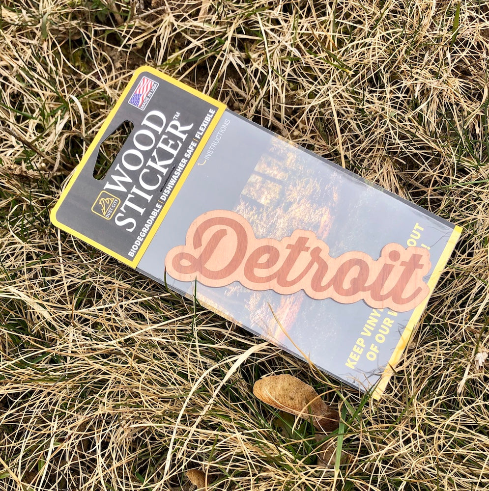 Wood Decal - Detroit Script