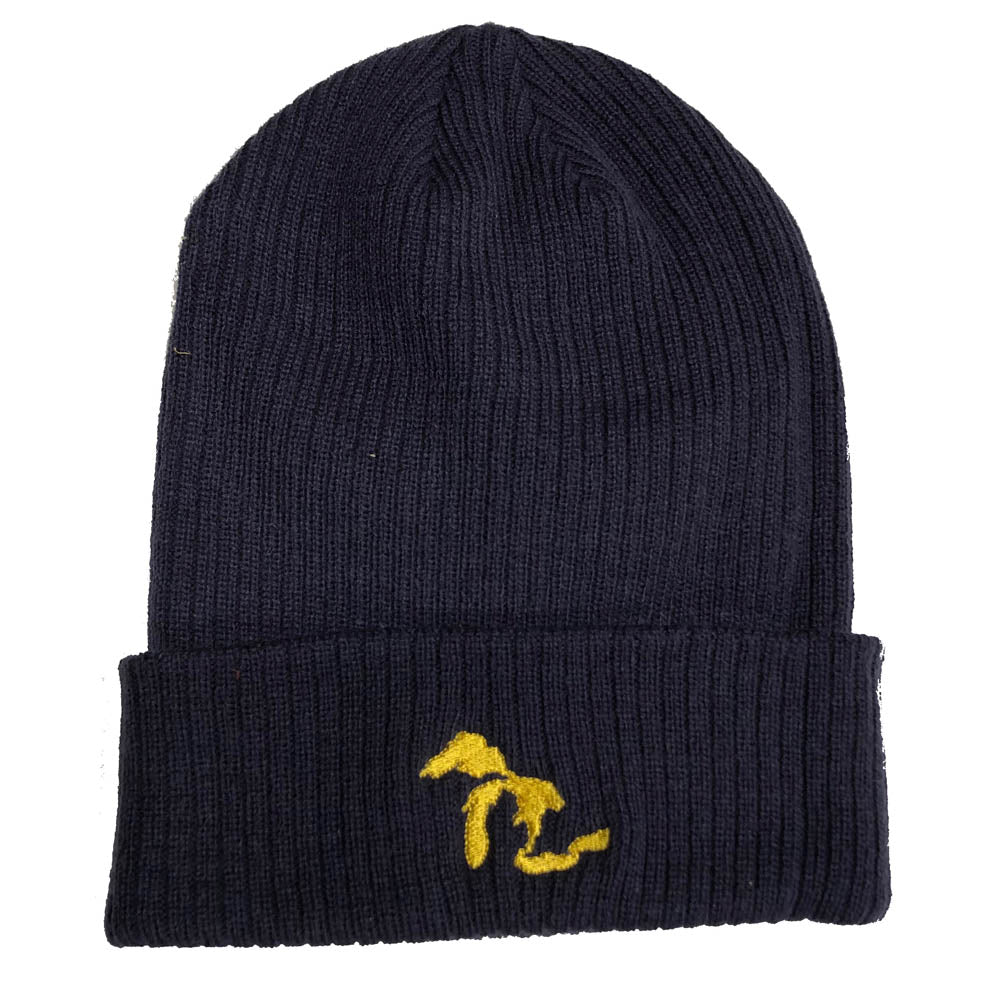 Hat - Michigan Lakes Flip Knit - Maize/Blue