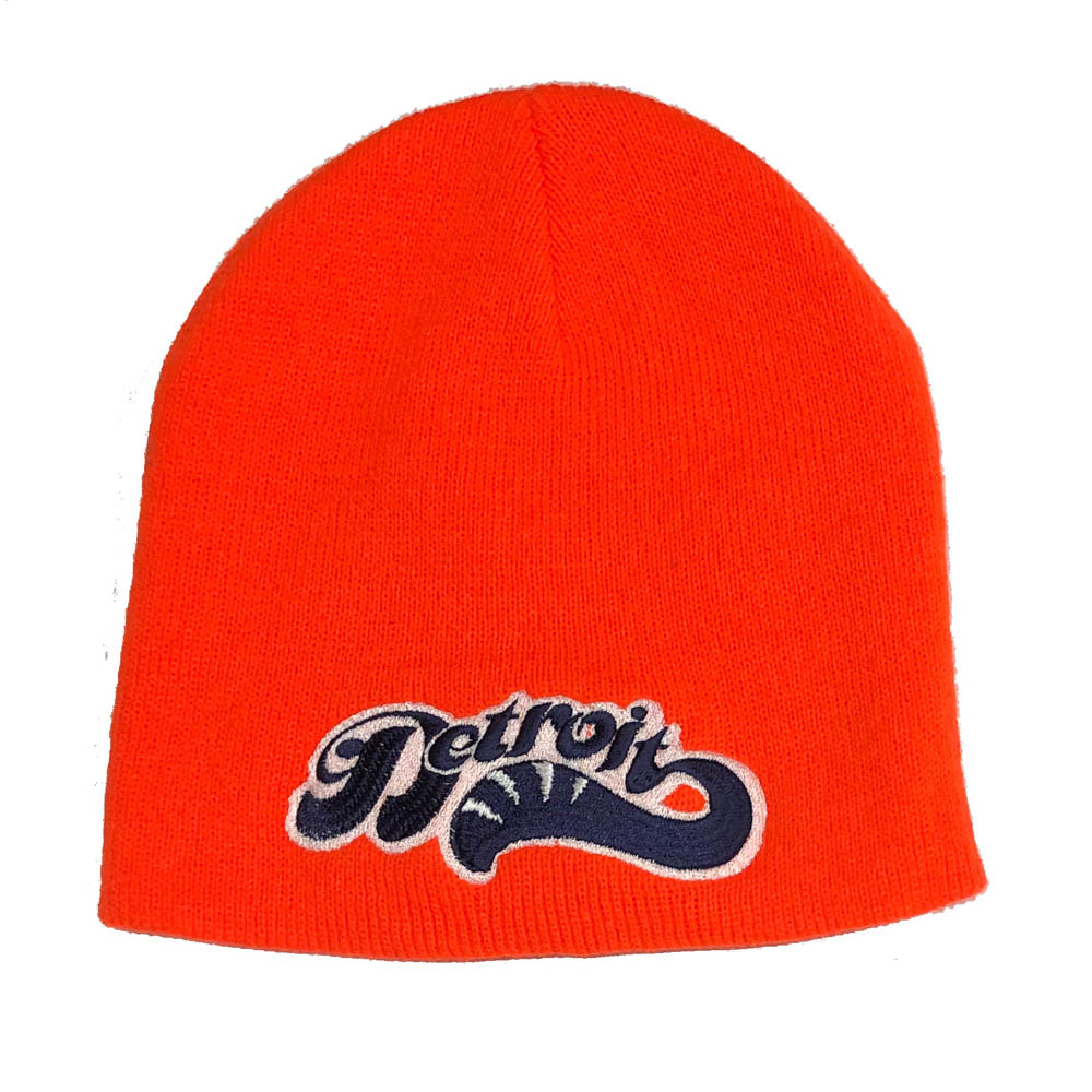 Copy of Hat - Detroit Sweep Beanie Knit - Orange