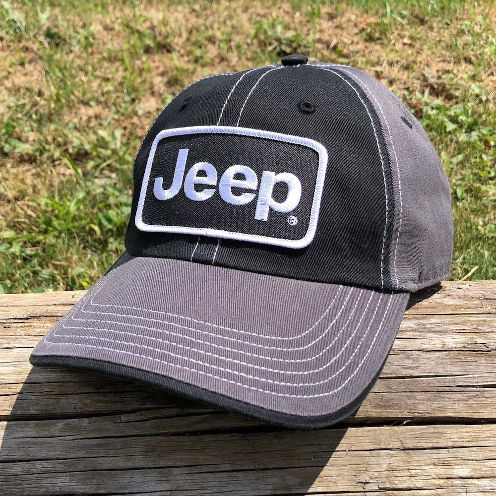 Hat - Jeep Richardson Chino Twill Patch - Black/Charcoal/White