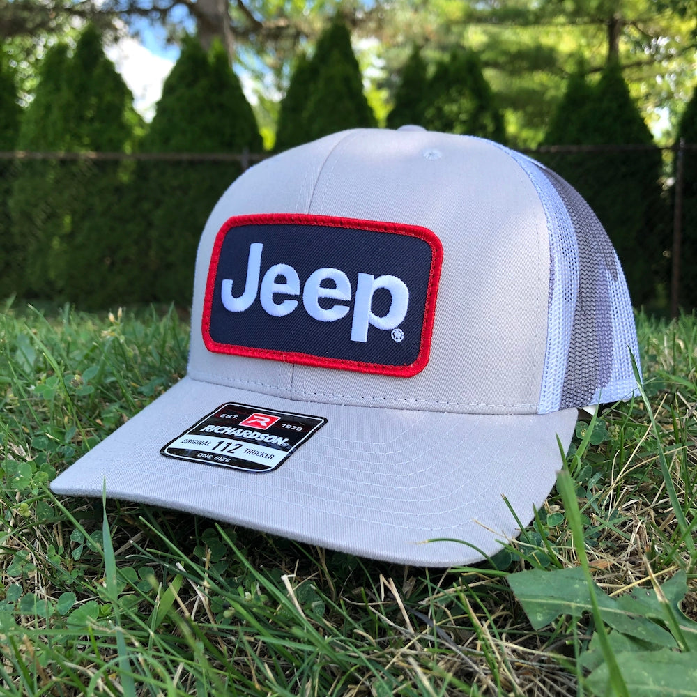 Hat - Jeep Richardson Heather Grey and Camo Trucker Patch Hat