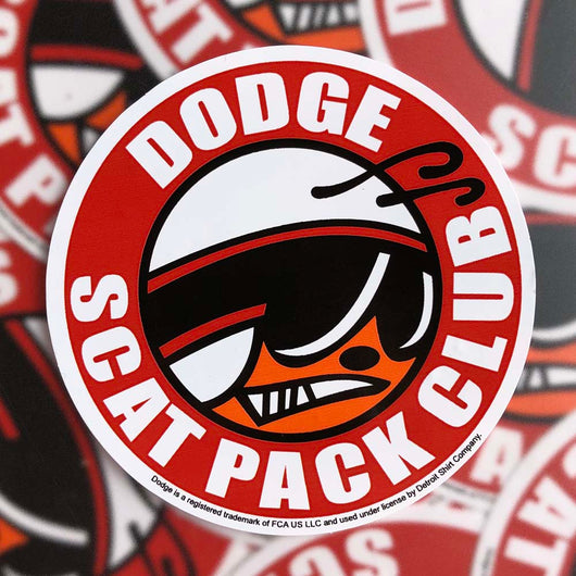 Sticker - Dodge Scat Pack Club