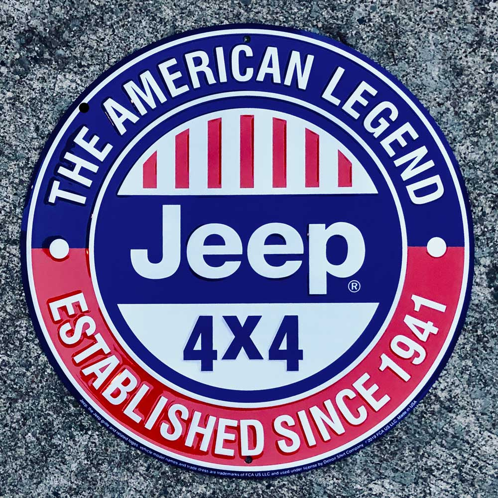 Sign - Jeep The American Legend