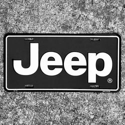 Sign - Jeep LP - Black and White