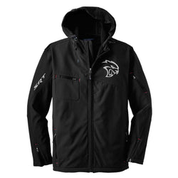 Mens Dodge® Hellcat Hooded Softshell Jacket - Black