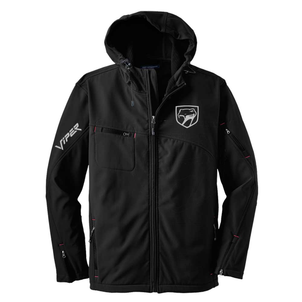 Mens Dodge® Viper Sneaky Pete Hooded Softshell Jacket - Black