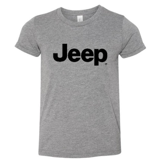 Youth - Jeep Text - Triblend Grey