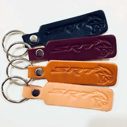 Keychain - Dodge SRT Hellcat Leather
