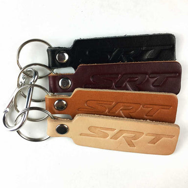 Keychain - Dodge SRT leather-Keychain-Detroit Shirt Company