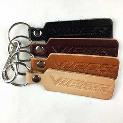 Keychain - Dodge Viper leather-Keychain-Detroit Shirt Company
