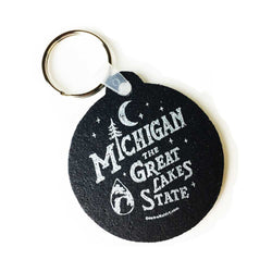 Keychain - MI Vintage Font recycled tire