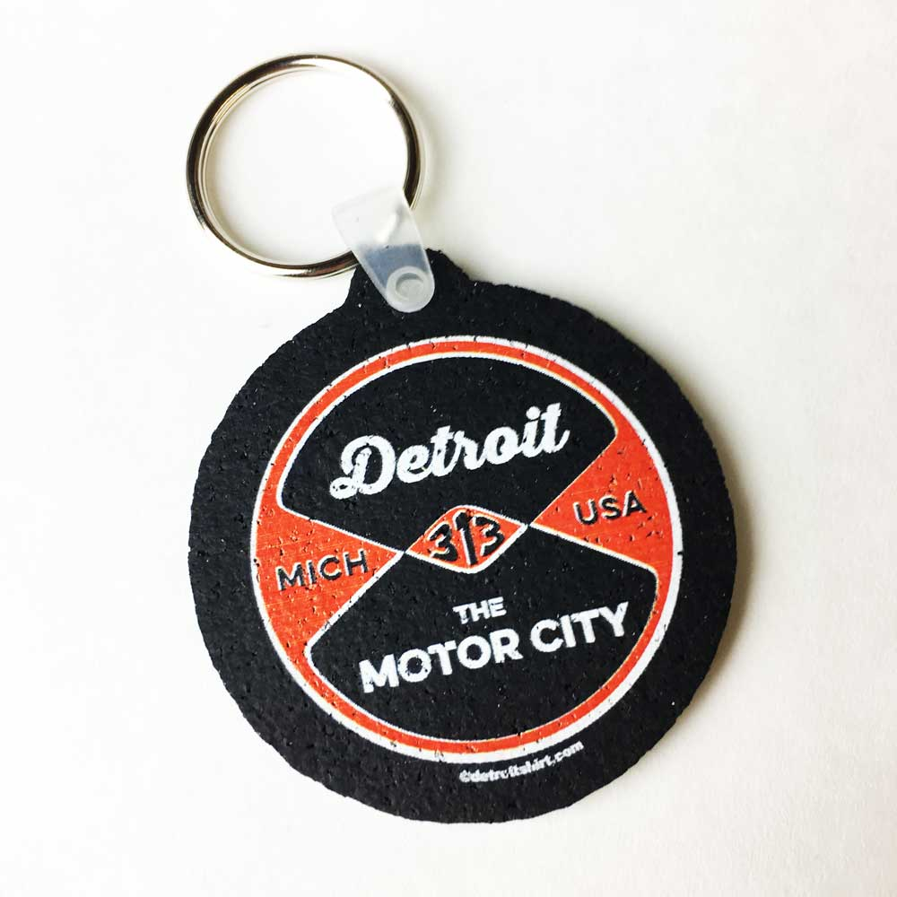 Keychain - Detroit Reel recycled tire