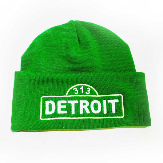 Hat - Detroit Street Sign Flip Knit-Hats-Detroit Shirt Company