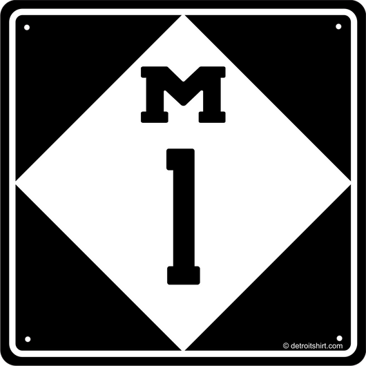 Sign - M1 woodward